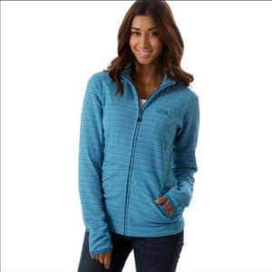 The North Face Striped Fleece Jacket Blue Small